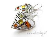 Sterling Zilveren Oorbellen met Barnsteen_