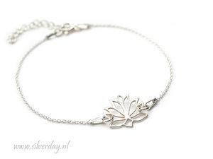 Sterling Zilveren Armband- Lotusbloem