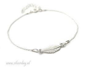Sterling Zilveren Armband- Blad