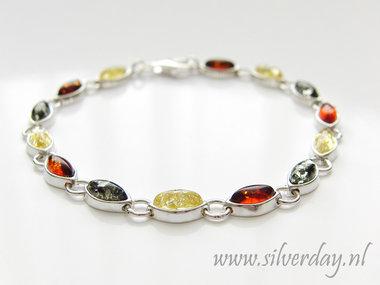Sterling Zilveren Armband met Barnsteen