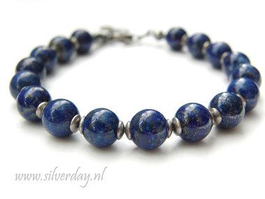 Handgemaakte Armband met Lapis Lazuli Edelstenen