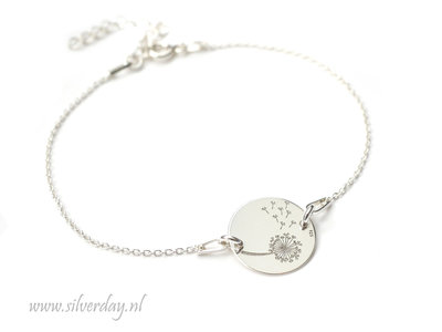 Sterling Zilveren Armband- Paardenbloem
